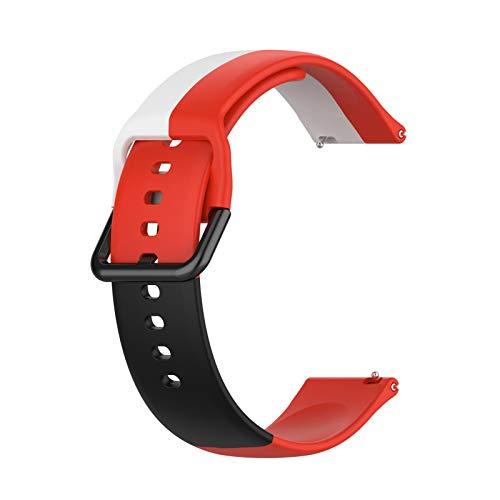 hgni Sports Watch Strap Pulsera Impermeable Reemplazo de la Pulsera Correa de Reloj Ajustable Correa Compatible para Samsung, Huawei, Amazfit, Xiaomi, JiaMing, Fossil, TicWatch