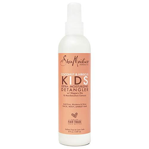 Sheamoisture Kids Extra Moisturizing Detangler for Curly Hair Coconut and Hibiscus Kids Detangler with Shea Butter 8 oz