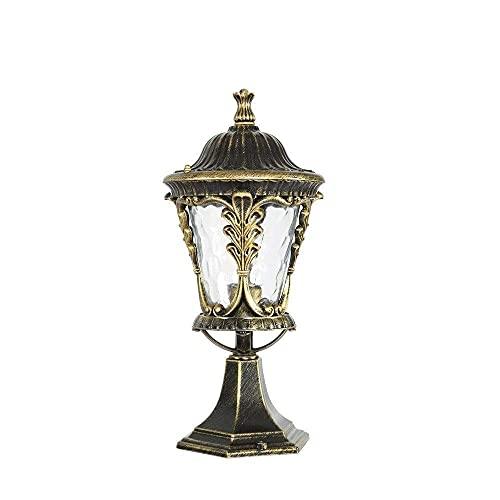 Victorian Vine Lámpara de cabeza de columna de aluminio fundido a presión de bronce Lámpara de pared Lámpara de poste Lámpara de jardín al aire libre IP55 Lámpara de paisaje europea a prueba d