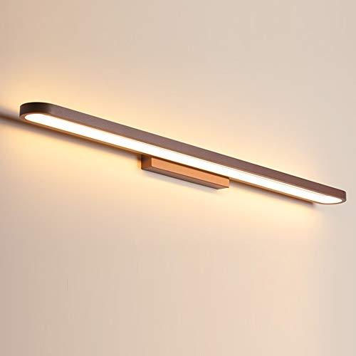 LED Lampara Espejo Iluminación Marrón Cuarto de Baño Applique Lampara de Pared Tocador Vitrina Hotel Interior Metal y Acrilico IP44,L40cm