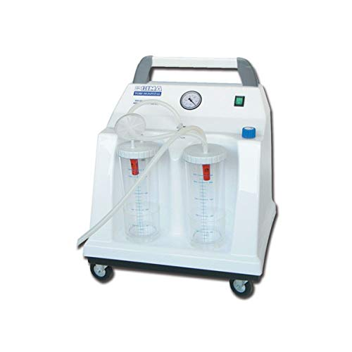 GIMA TOBI HOSPITAL - Aspiradora quirúrgica (2 x 2 L, 230 V, con interruptor de pedal) 2 L