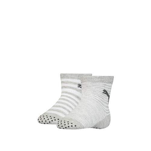 PUMA Unisex-Baby ABS (2 Pack) Socks, Grey Melange, 19-22 (2er Pack)