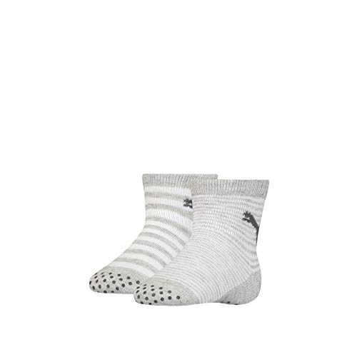 PUMA Unisex-Baby ABS (2 Pack) Socks, Grey Melange, 23-26 (2er Pack)
