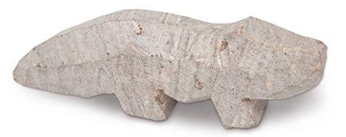 Honsell 79422 - Speckstein Rohling Krokodil, vorgefertigte Figur aus Speckstein, ca. 10 cm groß, zum Bearbeiten mit Raspel und Feile, ideal auch für Kinder