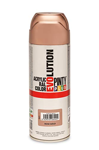 PINTYPLUS EVOLUTION Pintura spray Acrílica Brillo 520cc Rose Gold P157, 400 ml-520 cc
