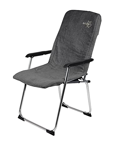 Bo-Camp - Housse de chaise S - Universel - Tissu éponge rembourré - Gris