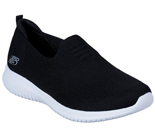 Skechers Women's Ultra Flex-Harmonious Sneaker, Black, 9 M US