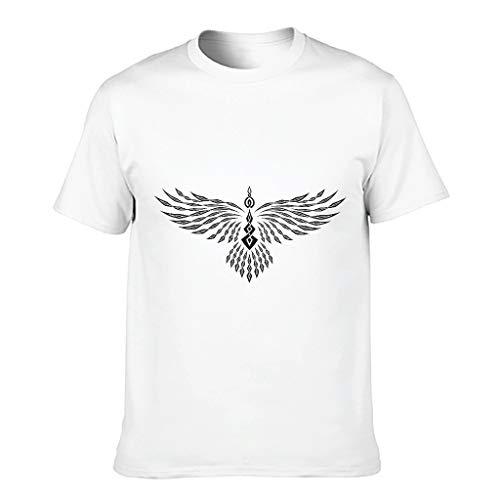 Viking Eagle - Camiseta de algodón para hombre con cuello redondo blanco XXXXXXL