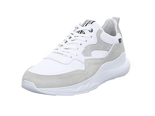 Floris van Bommel Herren 16269/21 Sneaker, Weiß (White Grain Combi 21), 43 EU