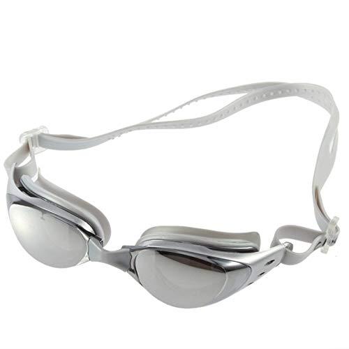 LANGTAOMY Gafas de Natación Adulto no nebulización contra los Rayos UV Gafas de natación de la Nadada de los vidrios Ajustable for Mujeres Hombres Gafas (Color : Gray)