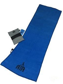 YISAMA Toalla de Microfibra Compacta,Secado Rapido Ideal para Gimnasio,Camping,Tenis,Padel,Bicicleta y Golf Color Azul