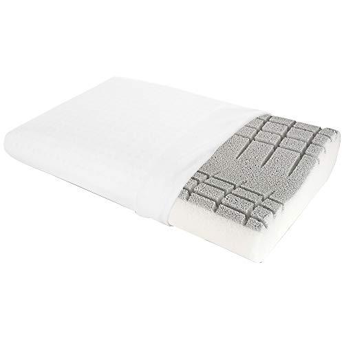 Goldflex Guanciale Fresh Silver Orto Ortopedico Cuscino Traspirante Cervicale Lavabile, Bianco