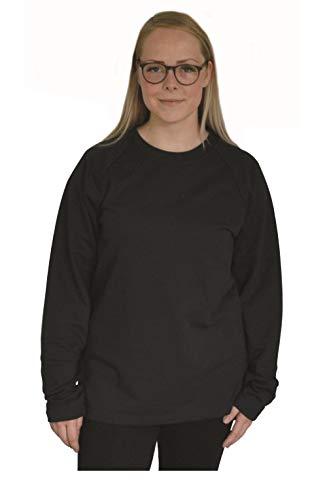 Green Cat Sweatshirt Unisex, Bio-Baumwolle und Oeko-TEX Zertifiziert, Textilfarbe: schwarz, Gr.: L