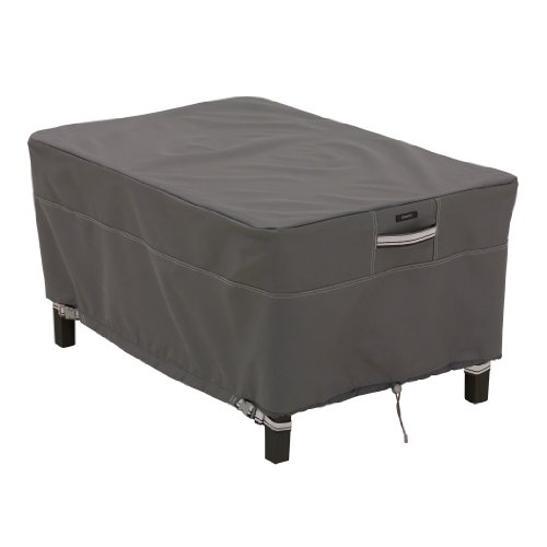 Classic Accessories 55-166-025101-00 Ravenna Patio Rectangle Ottoman/Side Table Cover, Small