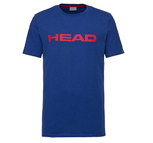 HEAD Club Ivan, T-Shirt Uomo, Royal Blu/Rosso, L