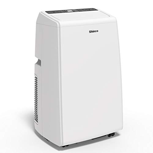 Shinco SPS5 8,000 BTU Portable Air Conditioner, 3-in-1 Floor AC Unit with Built-in Dehumidifier, Fan Mode, LED Display, Remote Control, Complete Window Mount Exhaust Kit for Rooms Up to 200 Sq. ft