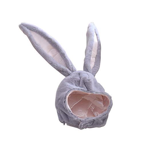 BESTOYARD Kaninchen Hut mit Ohren Lustige Plüsch Hase Ohren Kappe Kaninchen Kostüm Foto Booth Requisiten (Grau)