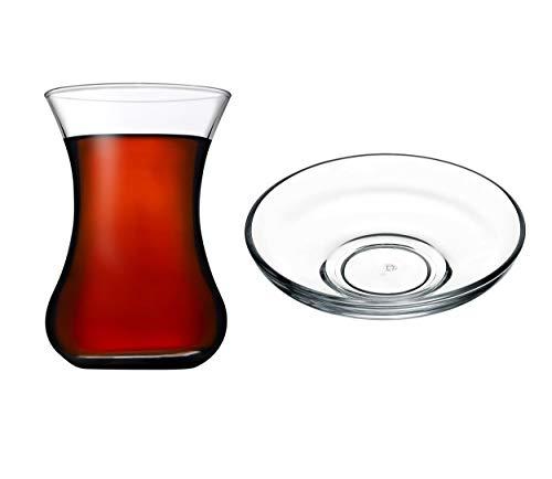 Juego de vasos y platillos de té turco (12 piezas)