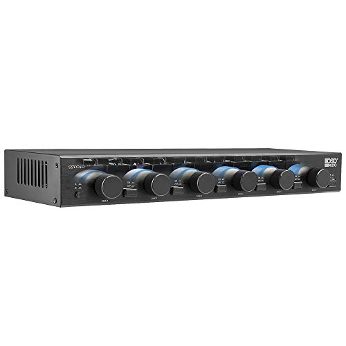 OSD 6 Zones Speaker Selector w Volume Control 300W Impedance Matching Dual Input On Off SSVC6