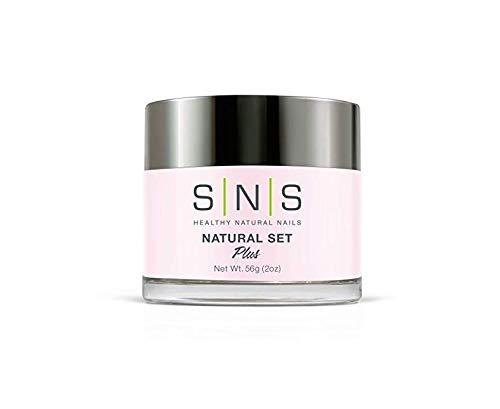 SNS Nail System 2oz Natural Set Dipping Powder, SNS Dipping Powder Starter Kit Pink and White Dipping Powder