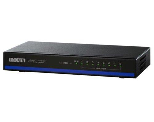アイ オー データ機器 EEE省電力機能搭載 100BASEーTX/10B ASEーT対応 8ポートスイッチングハブ ブラック ETX-ESH08 [7312]