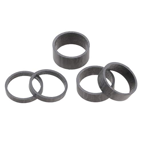 Hellery 5 Pz/Set Auricolare Bici in Fibra di Carbonio 5/10/15mm Stelo