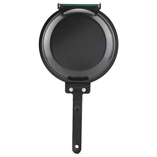 Dingln Frying Pan, Double Side Non-stick Ceramic Coating Flip Frying Pan Pancake Maker Household Kitchen Cookware