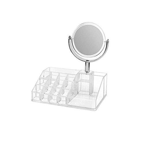 Miroirs Acrylique Dortoir Dortoir Dresser Bureau De Bureau Magnifying Beauty Admission D'étudiant Petit Ronde Double Face De Rotation
