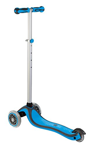 Globber 3 Wheel Adjustable Height Scooter (Light Blue/Gray)