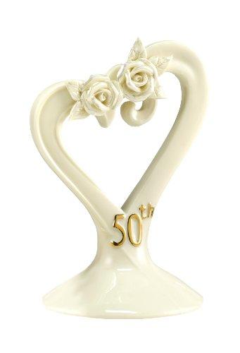 Hortense B. Hewitt Wedding Accessories 50th Anniversary Pearl Rose Cake Top
