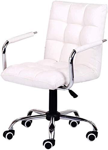 JCCOZ-URG Executive Office Chair Möbel Computerstuhl Home Office Stuhl Gratis Aufzug Drehstuhl Chefstuhl Studienstuhl 360 Grad Rotation Schöne Stuhlstühle URG (Color : White)