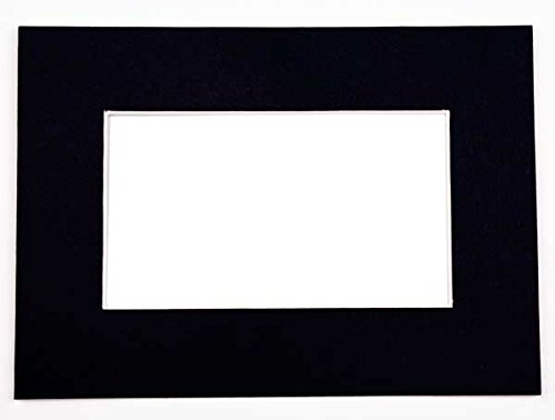 ClearBags Home Photo Studio Show Kits for Prints | Includes Picture Frame Backing Boards, Photo Mats, and Clear Art Sleeves | Acid Free & Archival Safe | 1 Pack of 20 Kits (5 x 7, Black)