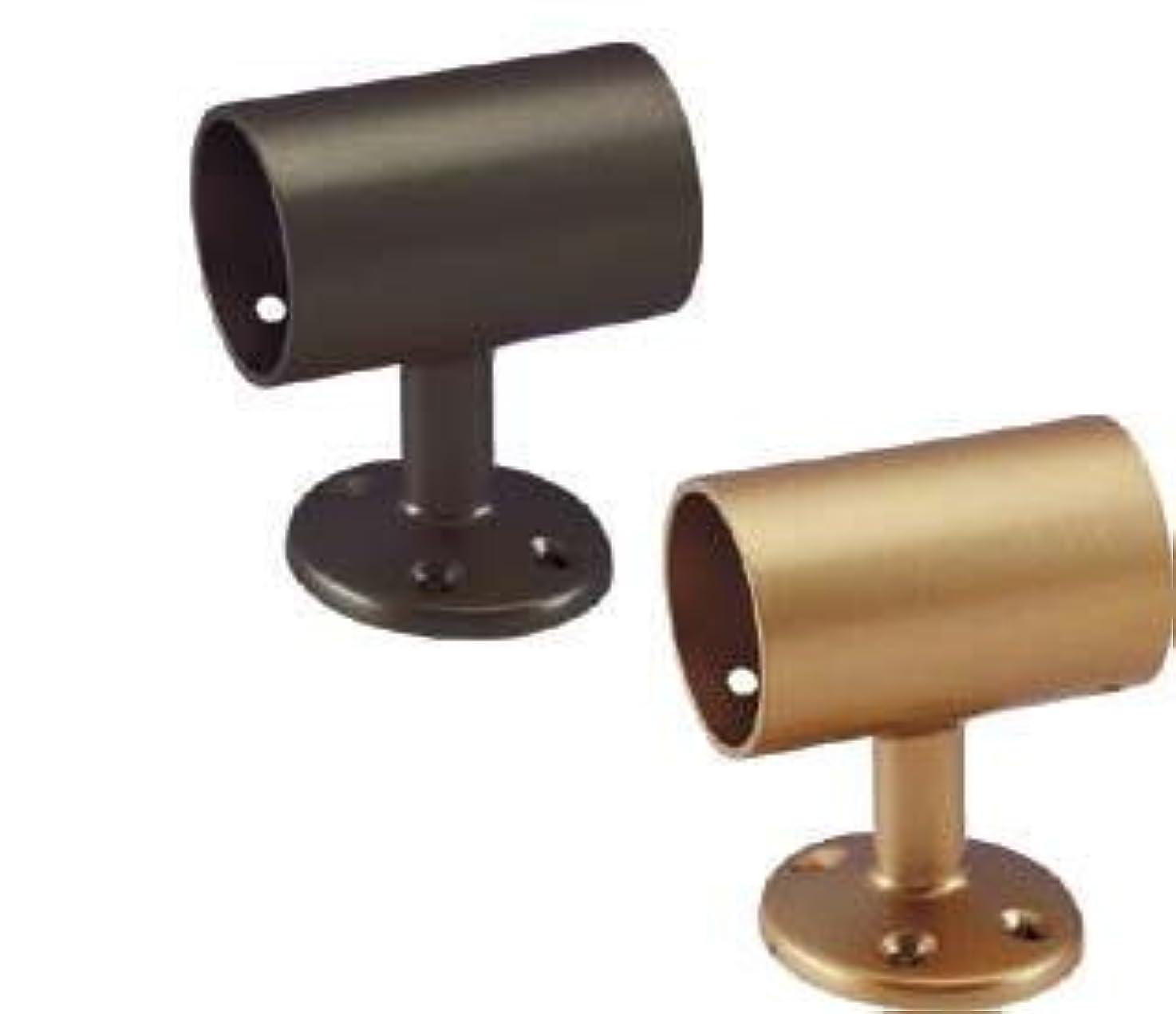 緯度買うパークBAUHAUSカラー 32セレクトシリーズ 32mm手すり用 通しブラケット縦型 ブラウン(04010-13354)
