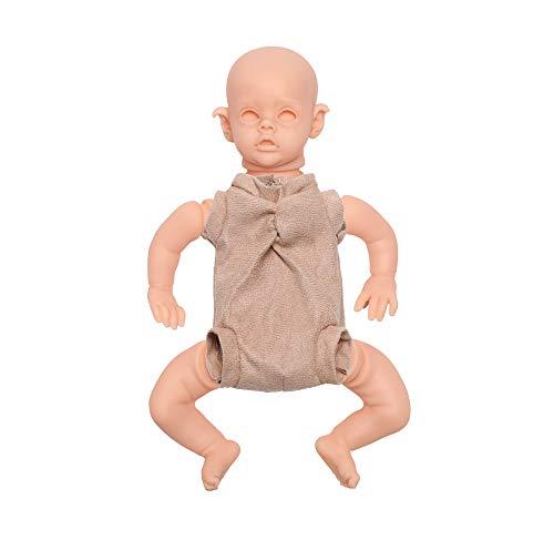 Bebe Reborn Kit 12 Pulgadas Reborn Baby Vinyl Kit FLO Mini Elf Piezas de muñecas inacabadas sin Pintar DIY Kit de muñecas Reborn Reborn (Color : T1, Tamaño : 12Inch About 32cm)