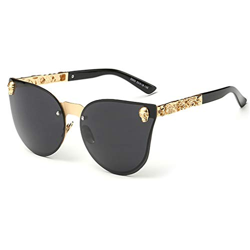 Yuandongxing Skull Sonnenbrillen Vintage Shades Metallrahmen Gothic Fashion Damen Sonnenbrille UV400