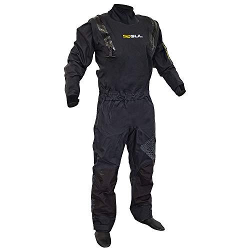 GUL Code Zero Stretch U-Zip Drysuit Dry in Schwarz - atmungsaktiv und wasserdicht