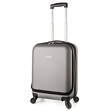 TravelCross Boston Carry On Lightweight Hardshell Spinner Luggage - Dark Gray