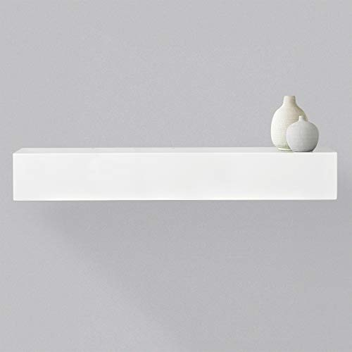 Alpha Large Concealment Shelf in White Finish w/RFID Lock