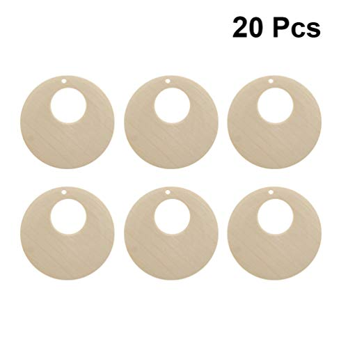 Healifty Pendientes colgantes de madera de 20 piezas pendientes de aro de madera de bohemia pendientes moteados pendientes de joyería para diy pendientes de 50 mm