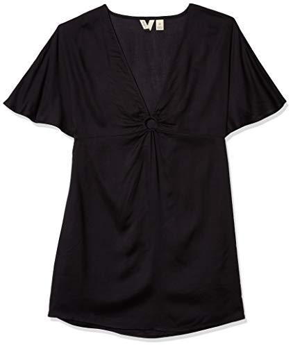 Roxy Robe de protection intemporelle pour femme - Noir - Taille L