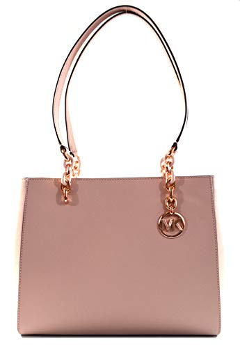 Michael Kors Sofia Large Saffiano Leather Tote Shoulder Bag Purse Handbag (Blossom)