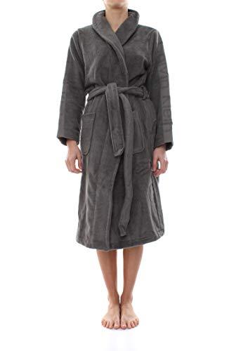 Calvin Klein Damen Robe Bademantel, Grau (Grey 080), 36 (Herstellergröße: XS-S)