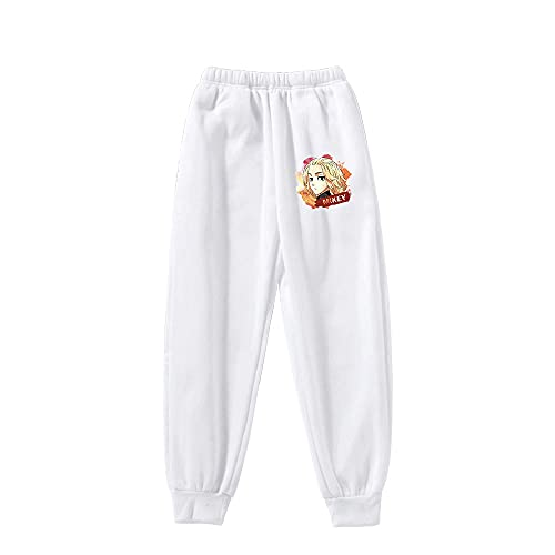 Syogo Pantalones Deportivos Tokyo Ghoul WhitePantaloni Della Tuta Pantaloni Della Tuta Anime Uomo e Donna Abbigliamento Sportivo Casual Unisex Anime-XXL