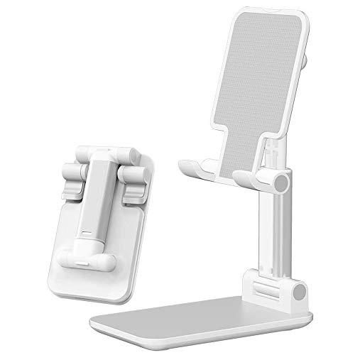 COTOPスマホスタンド ホルダー 卓上 折り畳み式 角度調整可能 横 縦 高度調整可能 滑り止め 軽量 在宅勤務 iPad対応 卓上 携帯スタンド タブレットスタンド(ホワイト)