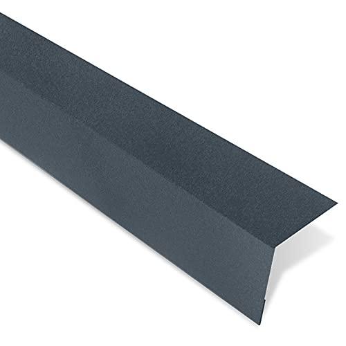 Bande dÉgout pour Tôle Imitation Tuiles - 1000x145x100 mm - Recouvrement Transversal 100 mm - Acier 0,50 mm - Revêtement Mat Texturé 40 µm - Garantie 20 Ans - Anthracite Mat - BACACIER