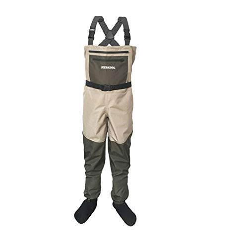 GNNZFL Fishing Waders Hunting Suit 3 Layer Waterproof Wading Pants Neoprene Boots Waist Size XXXL