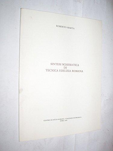 SINTESI SCHEMATICA DI TECNICA EDILIZIA ROMANA -