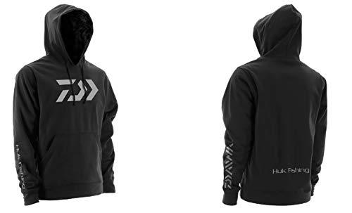 Daiwa H13D0001BLK05 Vector Huk Kapuzen-Sweatshirt, Gr. XXL, Schwarz