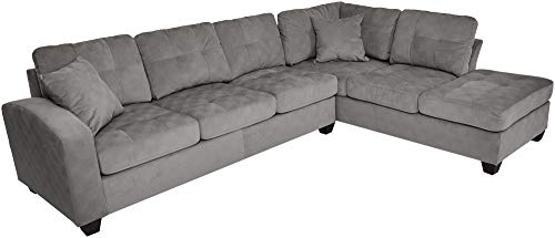 Homelegance Emilio 110' x 78' Fabric Sectional Sofa, Taupe
