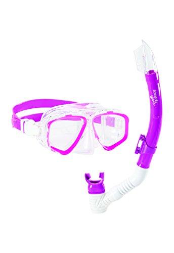 Speedo Adventure Mask/Snorkel Set, Pink Frost, One Size